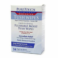 PureTouch Medicated Wipes, Flushable Moist Wipes 24 ea