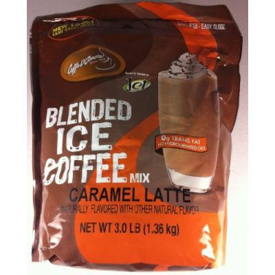 Caffe D' Amore Blended Ice Coffee, Caramel Latte - 3 lbs.