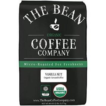 The Bean Coffee Company, Vanilla Nut Organic Ground Coffee, 5-Pound Bags