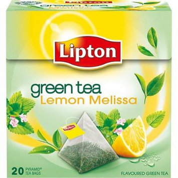 Lipton Green Tea - Lemon Melissa - Premium Pyramid Tea Bags (20 Count Box) [PACK OF 3]