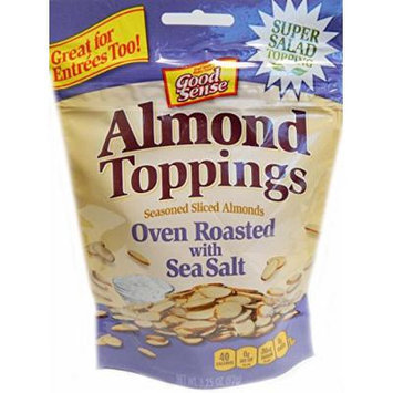 Good Sense Almond Toppings Oven Roasted with Sea Salt, 3.25 Ounce