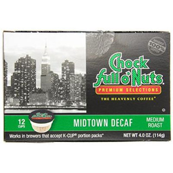 Chock Full o'Nuts Midtown Decaf Coffee K-Cups 12 Ct - Pack Of 2
