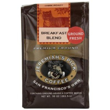 Jeremiah's Pick Coffee Breakfast Blend Ground Coffee, 10-Ounce Bags (Pack of 3)
