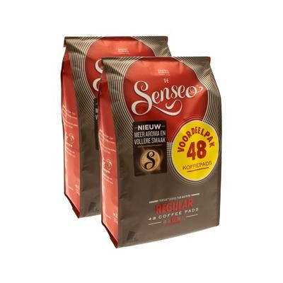 Senseo Coffee Pods - 48 Pods - Different Flavor - Imported From Netherlands (Regular/Medium Roast, 96)