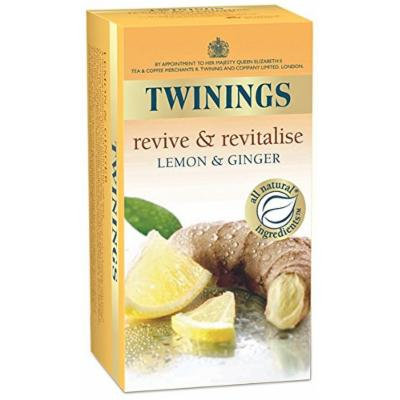 Twinings® Infusion Tea Bags Individually-wrapped Lemon and Ginger