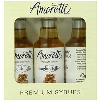 Amoretti Premium English Toffee Syrups 50ml 3 Pack