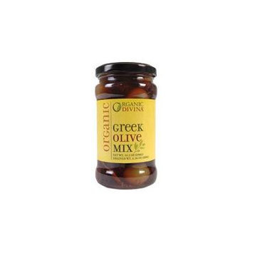 Divina Organic Greek Mixed Olives 6.36 Oz (Pack of 6) - Pack Of 6