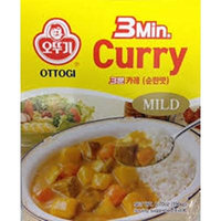 Ottogi's 3 Minutes Instant Meal Box of 8 Combos (Curry, Black Bean Sauce, Hashed Brown Sauce, Spicy Sauce with Kimchi & Tuna, and Spicy Sauce with Octopus) (Curry Mild (PACK OF 8))