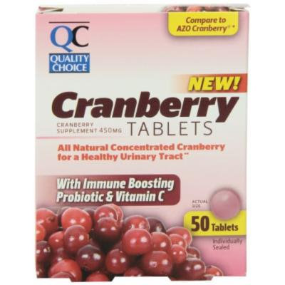 Quality Choice Azo 100% All Natural Concentrated Cranberry 450mg. Tablet 50 Count , Boxes (Pack of 3)