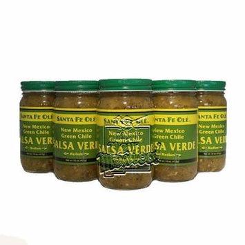 Santa Fe Ole New Mexico Green Chile Salsa Verde Medium (6)