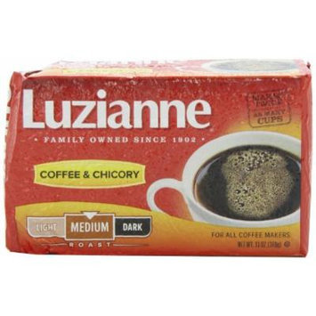 Luzianne Red Label Coffee & Chicory Medium Roast Coffee, 13-Ounce Packs (Pack of 4)