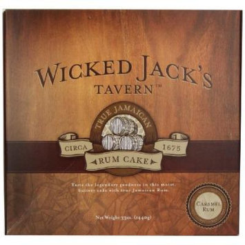 Wicked Jack's Tavern Jamaican Rum Cake, Caramel, 33-Ounce Boxes