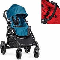 Baby Jogger City Select Black Frame Stroller w Adjustable Belly Bar (Teal)