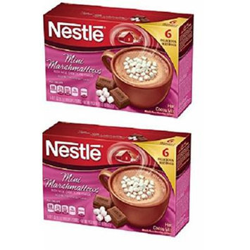 Nestlé Mini Marshmallows Rich Milk Chocolate Flavor Hot Cocoa Mix, 0.71 oz, 6 count (2 pack)