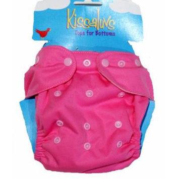 Kissa's All-In One Diaper, Hip Pink, Newborn