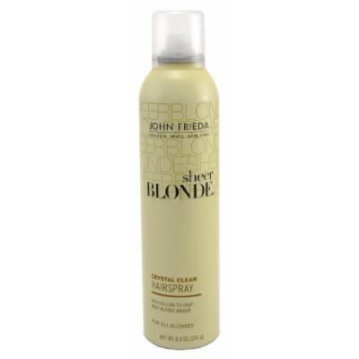 John Frieda Sheer Blonde Crystal Clear Shape & Shimmer Hairspray, 8.5 oz (Pack of 6)