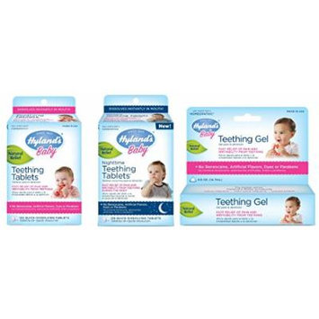 Hyland's Teething Tablets (135 Ct), Hyland's Nighttime Teething Tablets (135 Ct) and Hyland's Teething Gel (0.5 oz) Combo Pack