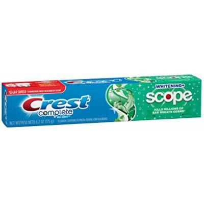 Crest Complete Whitening Plus Scope Minty Fresh Toothpaste, 6.2-Ounce (Pack of 4)