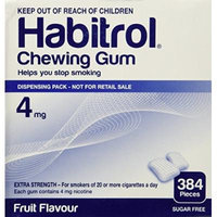 Habitrol Nicotine Gum 4mg Fruit BULK 384 pieces