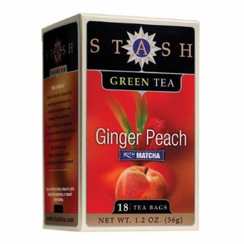 Stash Premium Tea Green Tea, Ginger Peach Green Tea 18 bags