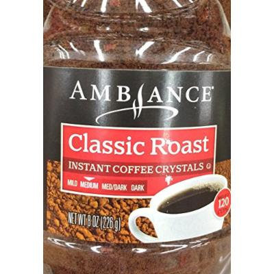 One - 8oz Ambiance Instant Coffee Crystals, Classic Roast, Medium, Makes 120 Cups