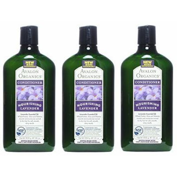 Avalon Organics Nourishing Conditioner-Lavender 11 Ounces (Pack of 3)