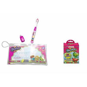 Brush Buddies Shopkins Oral Travel Kit with Shopkins Bandages 20 count Box