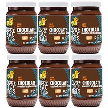Don't Go Nuts Nut-Free Organic Roasted Soybean Spread, Chocolate, 6 Count