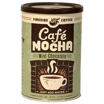 Fireside Coffee Cafe Mocha Instant Flavored Coffee 8 Ounce Canister - Chocolate Mint