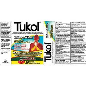 Tukol Relieves Cough & Mucus, Maximum Strength, 20 Softgels