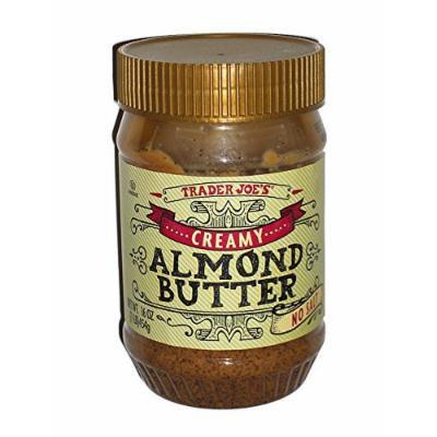 Trader Joe's Creamy Almond Butter-No Salt, 1 lb