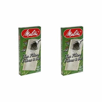 Melitta Loose Tea Filter, 40 Ct. (Pack of 2)