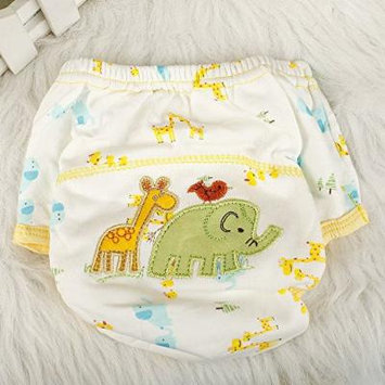 Baby Infant Cloth Diaper Nappy Cover Pants Waterproof Elephant-Print Breathable