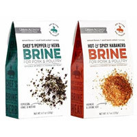 Urban Accents Pork & Poultry Brine Mix 2 Flavor Variety Bundle: (1) Urban Accents Chef's Pepper & Herb Brine Mix, and (1) Urban Accents Hot & Spicy Habanero Brine Mix, 4.7 Oz. Ea. (2 Total)
