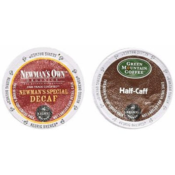Green Mountain HALF-CAFF & Newman's Own Organics Special DECAF Coffee Variety Pack 48 K-Cups for Keurig Brewers