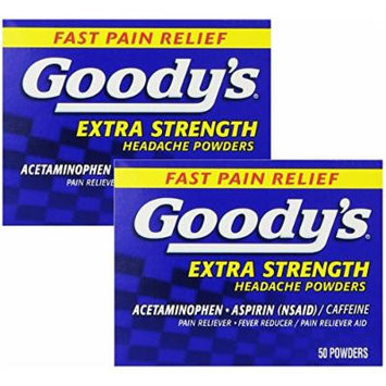 Goody's Extra Strength Headache Powders, 50 Count (Pack of 2)