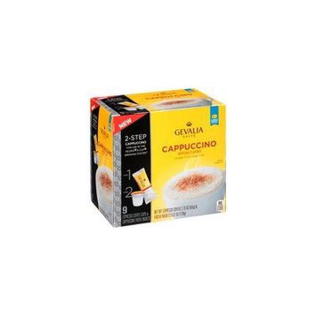 Gevalia 2-step 9 -Espresso Coffee Cups and Froth Packets, Cappuccino (1 box/9 Espresso k-cups & Froth Packets) Pack of 2