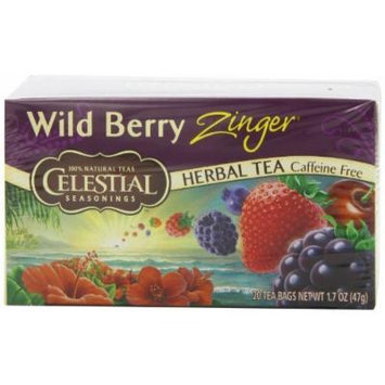 Celestial Seasonings Herb Tea, Wild Berry Zinger, 20-Count Tea Bags (Pack of 6) by Celestial Seasonings [Foods]