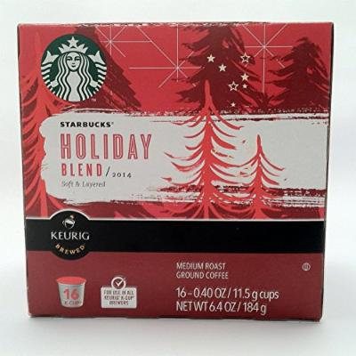 2014 Starbucks Holiday Blend K-Cups 16Ct