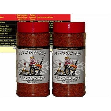 Plowboys Yardbird Rub 14 oz (2 Pack) with Complimentary Miniature Meat Smoking Guide Magnet Bundle