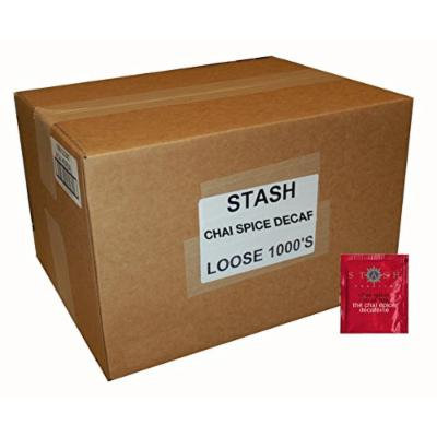 Stash Tea Decaf Chai Spice Black Tea, 1000 Tea Bags in 8.58 Pound Box
