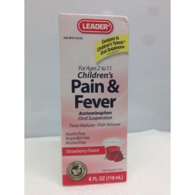 Leader Children's Pain & Fever Acetaminophen Strawberry Flavor 4oz