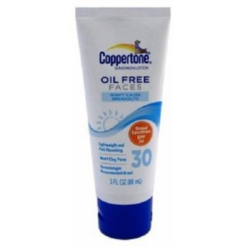 Coppertone SPF 30 Oil Free Lotion for Faces, 3 Ounce