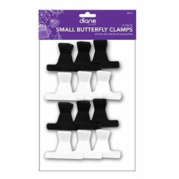 Diane Butterfly Clips Small, 12/bag - 2 pack