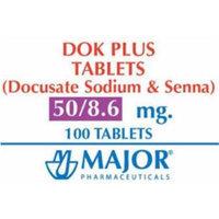 Dok Plus Tablets Stool Softener - 8.6-50MG 100 Tablets (2 PACK)