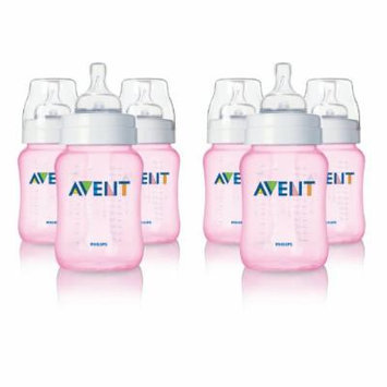 Philips Avent 9 Ounce BPA-Free Bottles - 6 Pack, Pink