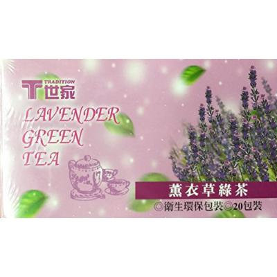 1.4oz Tradition Lavender Green Tea, 20 Tea Bags, Pack of 1
