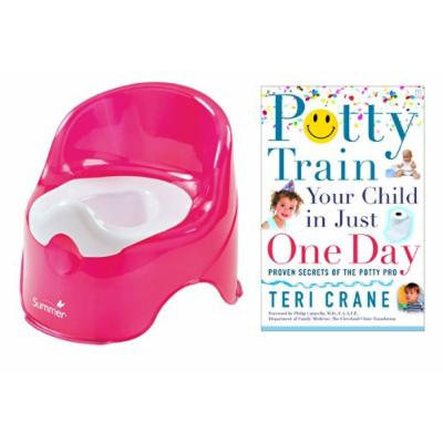 Summer Infant Lil' Loo Potty with Potty Train Your Child in Just One Day Guide Book, Raspberry