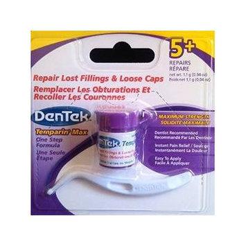 Dentek Temparin Max Lost Filling & Loose Cap Repair, one step instant pain relief, 5+ repairs 0.04 Oz (Pack of 2)
