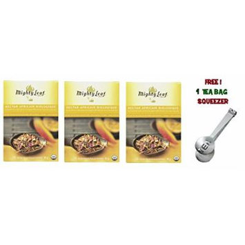 Mighty Leaf Tea , Organic African Nectar ,(with FREE Tea Bag Squeezer) (3 Pack)